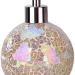 Lo mejor en dispensadores de jabón cristal mosaico morado – venta online